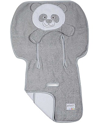 Picci Bo-Bo Reversible Stroller Cover, Grey - 100% cotton, terry + honeycomb Stroller Accessories