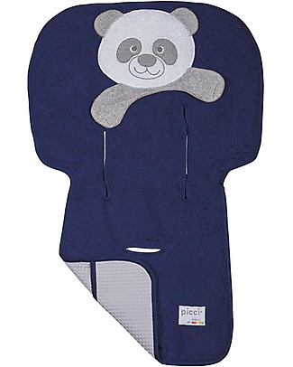Picci Bo-Bo Reversible Stroller Cover, Navy - 100% cotton, terry + honeycomb Stroller Accessories