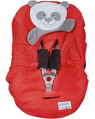 Picci Bo-Bo Universal Car Seat Cover, 100% Cotton Terry, Red - 75 x 85 cm Car Seat Accessories