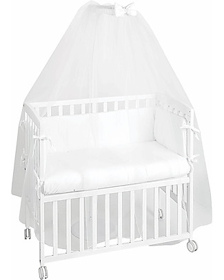 Picci Cot Veil and Mosquito Net 130 x 500 cm Nina Range, White Cribs & Moses Baskets