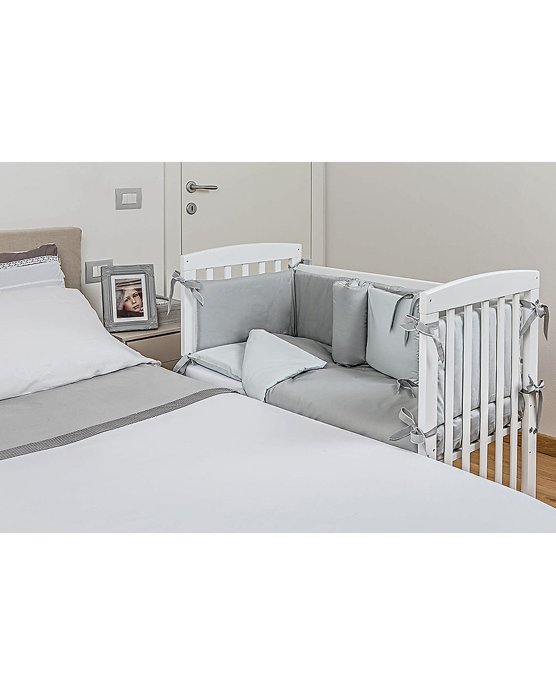 Picci Lella Co Sleeping Cot Crib Wood White