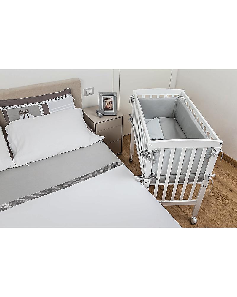 Picci Lella Co Sleeping Cot Crib Wood White Mattress