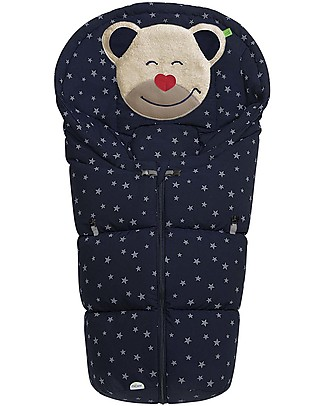 Picci Mucki Small with Clips, Dark Blue + Stars - Universal footmuff for car seat and carrycot Footmuffs