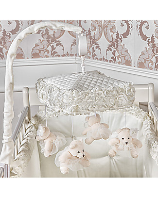 Picci Musical Mobile Flora, Off-White - With 4 teddy bears! Mobiles