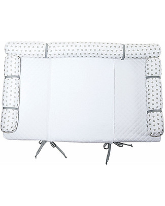 Picci Nina Changing Mattress 50 x 80 cm, White-Grey - Universal Changing Tables