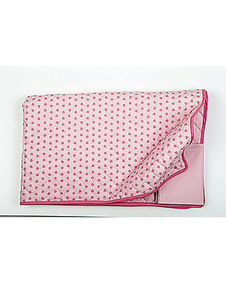 Picci OUTLET - Baby Double Sided Quilt 115 x 140 cm, Pink+Leaves - 100% cotton Blankets