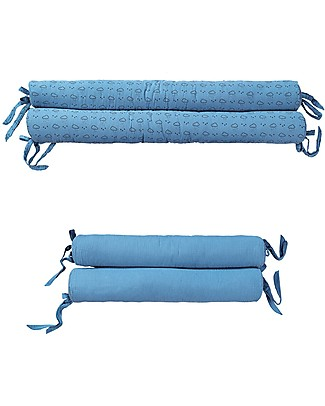 Picci Padded Reducer Set for Liberty Bed, Light Blue - 4 pieces Baby Nest