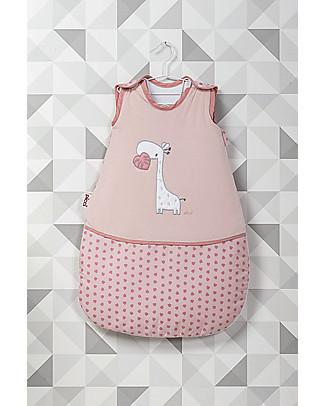 Picci Padded Sleeping Bag with Giraffe, Pink - 70 cm, Cotton Jersey Warm Sleeping Bags