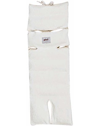 Picci Removable, Universal Stroller Mattress 80 x 29 cm, Off-White - Barley husk + bamboo Stroller Accessories