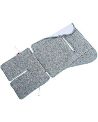 Picci Reversible Stroller and Car Seat Mattress, Grey - 100% cotton, terry + honeycomb Stroller Accessories