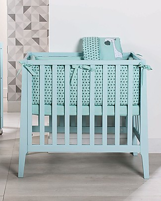 Picci Textile 5-Pieces Set for Nina Converse, Aqua - Duvet, pillowcase, bumper, mattress and fitted sheet Duvet Sets