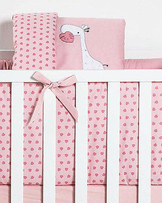 Picci Textile 5-Pieces Set for Nina Converse, Pink - Duvet, pillowcase, bumper, mattress and fitted sheet Duvet Sets