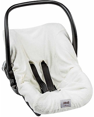 Picci Universal Car Seat Cover, Bamboo Terry, Off-White - 75 x 85 cm Car Seat Accessories
