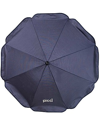 Picci Universal Sun Umbrella for Strollers 72 cm, Navy - UV protection 50+ Stroller Accessories