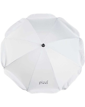 Picci Universal Sun Umbrella for Strollers 72 cm, White - UV protection 50+ Stroller Accessories