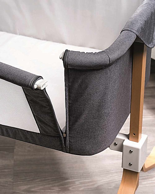 Picci You&Me, Co-Sleeping Cot / Crib - Grey - Mattress + Sheet + Mobile included! Co-Sleeping Cribs