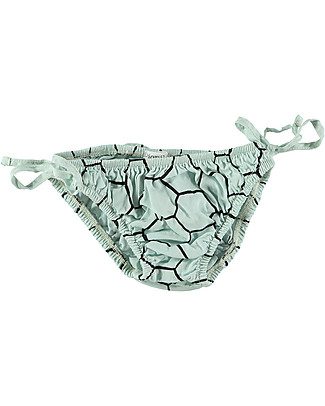 Picnik Baby Girl Swimwear, Briefs - Mint/Bee Hive – 100% Cotton Swimsuits