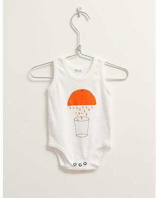 Picnik Sleeveless Body, Orange – 100% Cotton, Unisex Short Sleeves Bodies