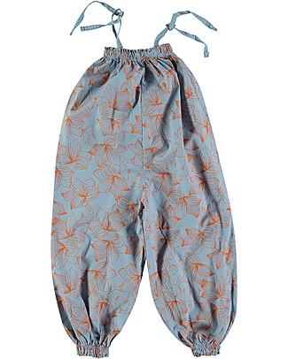 Picnik Spaghetti Straps Jumpsuit, Blue/Flowers – 100% Cotton Sweatshirts