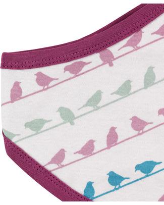 Pigeon - Organics for Kids Bird Bandana Bib - 100% Organic - White & Multi-coloured Print Bandana Bibs