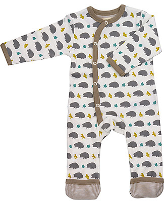 Pigeon - Organics for Kids Long Hedgehog Romper, Taupe - 100% Organic Cotton Rompers