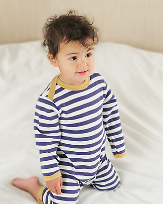 Pigeon - Organics for Kids Nautical Stripe Romper, Navy/White - 100% Organic Cotton Rompers