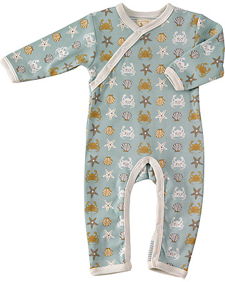 Pigeon - Organics for Kids Seaside Romper Crab - 100% Organic Cotton Rompers