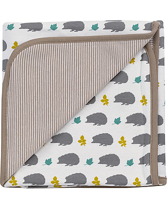 Pigeon - Organics for Kids Springtime Blanket Grey - 100% Organic Cotton (Double layer: super soft and cozy) Muslin Cloths