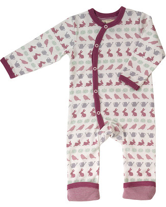 Pigeon - Organics for Kids Springtime Romper Purple - 100% Organic Cotton Rompers