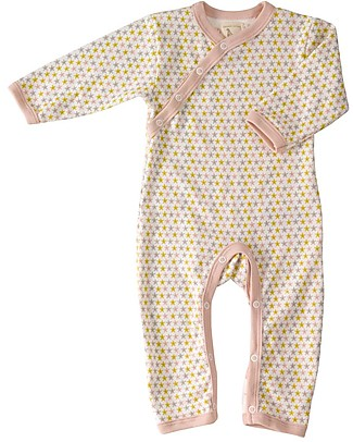 Pigeon - Organics for Kids Starfish Romper Pink - 100% Organic Cotton Rompers