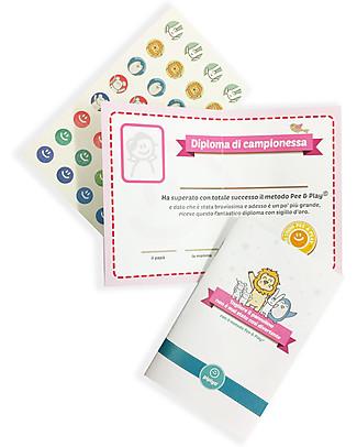 Pipiyo Magic Method + 2 Stickers for No-Tears Child Potty Training - Lion & Rabbit Potties