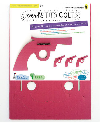 Pirouette Cacahouète My Little Shooters Pink - Creative, fun & Eco-Friendly! (pack of 4) Paper & Cardboard