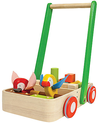 PlanToys Bird Walker, Wooden Push Toys - Encourages kids to walk! Wooden Push & Pull Toys