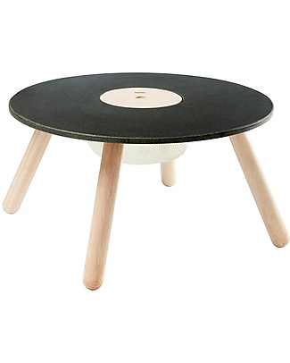 PlanToys Children Round Blackboard Table, 3-6 years - Design and sustainability! Tables And Chairs
