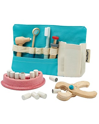 PlanToys Dentist Set Wooden Toy Story Making Games