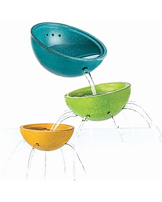 PlanToys Fountain Bowl Set, 13x13x5.8 cm - Eco-friendly Bath Toy! Beach Toys