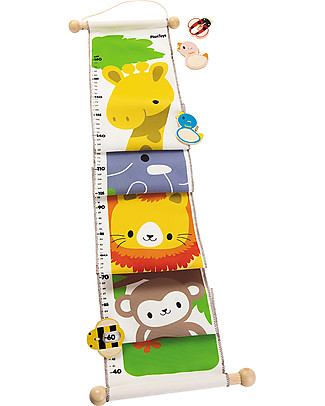 PlanToys Height Chart, Jungle Animals, 160 cm! Room Decorations
