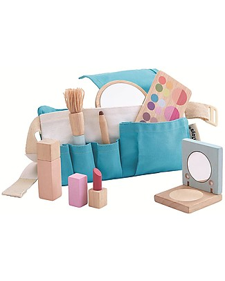 PlanToys MakeUp Set Wooden Toy - for Little Artists! Story Making Games