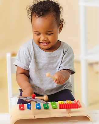 PlanToys Musical Set: Xylophone, Guiro and Cymbal - For Little Musicians! Musical Instruments
