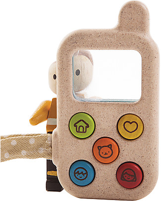 PlanToys My First Phone, 6 x 11 x 2 cm - Made of wood: eco-friendly fun! Story Making Games