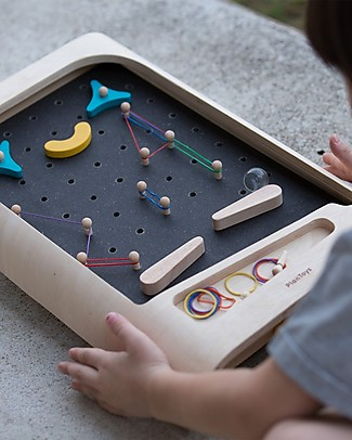 PlanToys Pinball, Wood - Adjust the Obstacles as you Prefer! Board Games