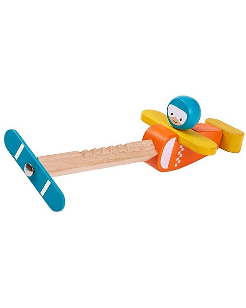 PlanToys Spin n Fly Wooden Airplane Outdoor Games & Toys