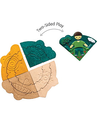 PlanToys Weather Dress-Up Puzzle and Stencils Wooden Stacking Toys