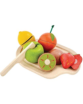 PlanToys Wooden Assorted Fruit Set - Eco-friendly and funny! Story Making Games