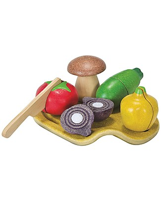 PlanToys Wooden Assorted Vegetable Set - Eco-friendly and funny! Story Making Games