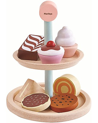PlanToys Wooden Bakery Stand Set - Encourage Collaborative Play Story Making Games