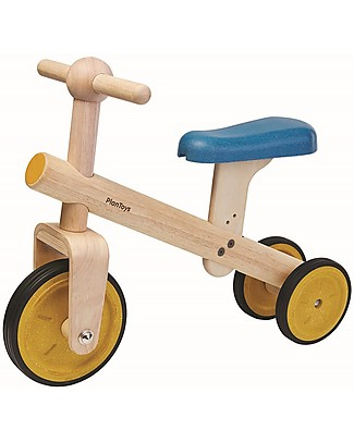 PlanToys Wooden Balance Tricycle - Improve body balance before riding a bike  Balance Bikes