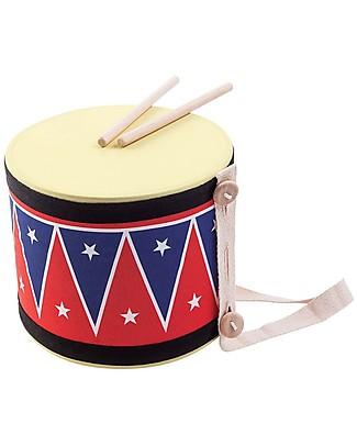 PlanToys Wooden Big Drum 2 Musical Instruments