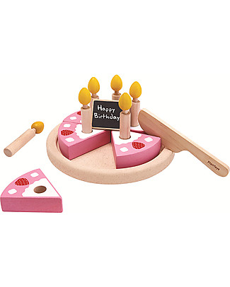 PlanToys Wooden Birthday Cake Set -  Eco-friendly and fun! Story Making Games