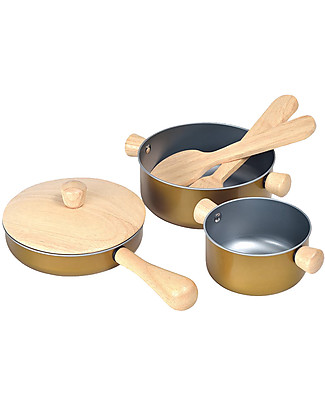 PlanToys Wooden Cooking Utensils - for Little Chef Story Making Games